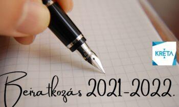 beiratkozás a 2021-22. tanévre
